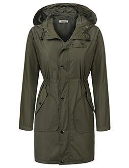 Beyove Women's Packable Waterproof Rain Jacket Outdoor Rainc