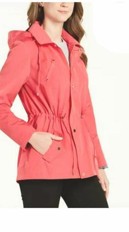 Charter Club Women's Petite Anorak Rain Jacket Pink Dusty Co