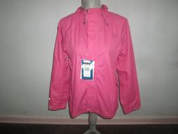 Women's WHITE SIERRA Pink Polka Dot Trabagon Windbreaker Rai