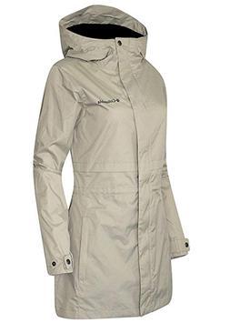 Columbia Women's Plus Shine Struck II Mid Hooded Rain Jacket