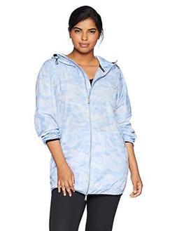 Calvin Klein Women's Plus Size Camo Print Packable Rain Jack