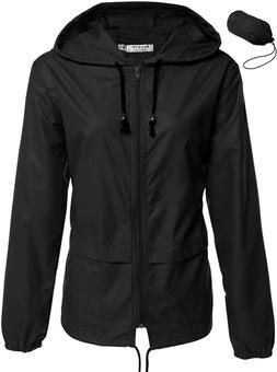 Women'S Rain Jacket Lightweight Active Outdoor Waterproof Pa