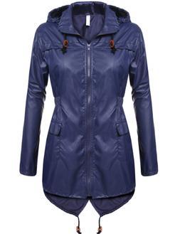 Beyove Women's Rain Jacket Waterproof Hooded Lightweight Act