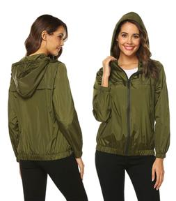Hotouch Women's Rain Jacket Waterproof Packable Active Outdo