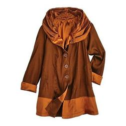 Lindi Women's Reversible Rain Coat - Iridescent Hooded Rain