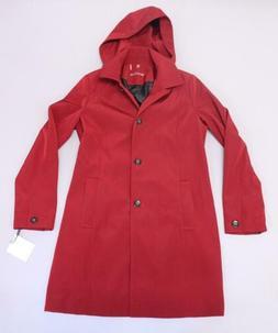 Calvin Klein Women's Single Breasted Hooded Swing Rain Jacke