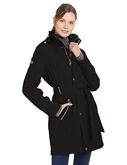 Calvin Klein Women's Soft Shell Water Resistant Rain Jacket,