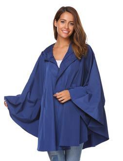SoTeer Women's Stylish Raincoat Plus Size Waterproof Packabl