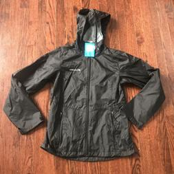 Columbia Women's Syccamore Springs Hooded Rain Jacket Sz L,