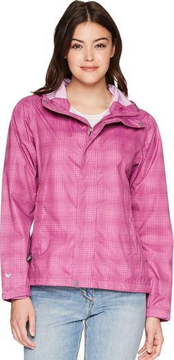White Sierra Women's Trabagon Printed Rain Shell Jacket Orch