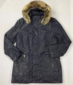 Women's Calvin Klein Water Resistant Navy Rain Jacket w/ det