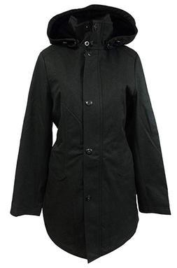 Kristen Blake Women's Water-resistant Tech Rain Hooded Jacke