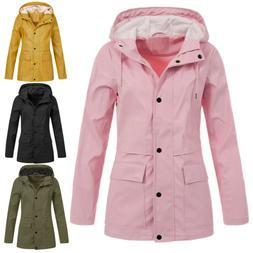 Women's Waterproof Anorak Outdoor Sport Hooded Rain Jacket C