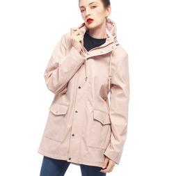 Women's Waterproof Casual Hooded Rain Jacket Windbreaker Rai