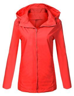SoTeer Women's Waterproof Lightweight Raincoat Anorak Outdoo