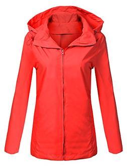 0a81972f211 SoTeer Women's Waterproof Lightweight Raincoat Anorak Outdoo