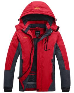Wantdo Women's Waterproof Mountain Jacket Fleece Outdoor Coa