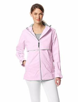 Charles River Apparel Women's Waterproof Rain Jacket, Pink,