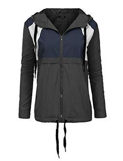 FISOUL Women's Waterproof Rain Jacket Windproof Ski Jacket C