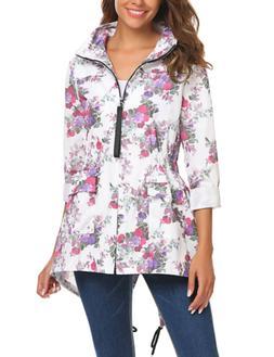 SoTeer Women's Waterproof Raincoat Outdoor Hooded Packable R