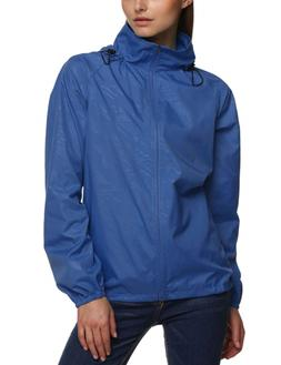 Zeagoo Women's Waterproof Raincoat Outdoor Hooded Rain Jacke