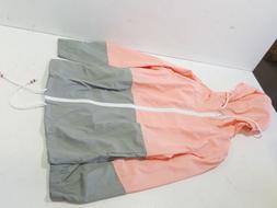 Meaneor Women's Waterproof Raincoat Outdoor Hooded Rain Jack