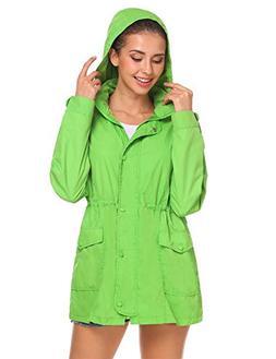 women s waterproof raincoat zip up hooded