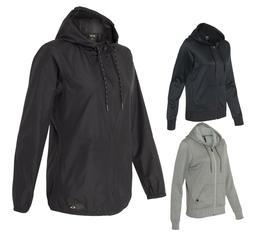 Oakley Women's Windbreaker Rain Jacket or Poly Hoody, Black,