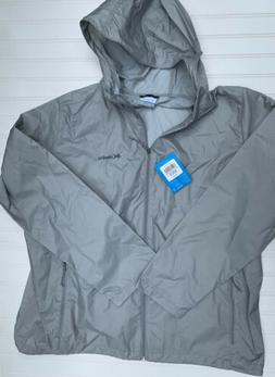 Columbia Women Sycamore Springs Rain Windbreaker Jacket Gray
