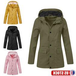 Women Waterproof Hooded Winter Warm Jacket Breathable Outwea