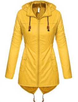 Beyove Women Waterproof Lightweight Rain Jacket Active Outdo