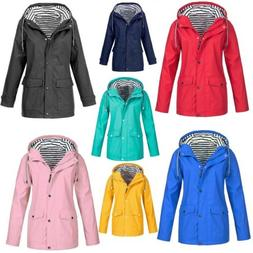 Women Long Sleeve Hooded Wind Jacket Outdoor Waterproof Rain
