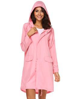 SoTeer Women Waterproof Rain Jacket Hoodie Windproof Outdoor