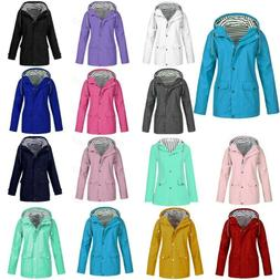 Women Winter Rain Jacket Outdoor Plus Size Waterproof Windpr