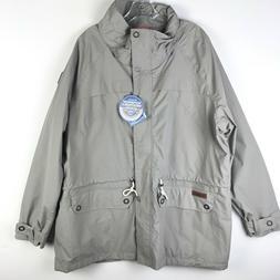 Columbia Womens Gray Remoteness Rain Jacket NWT - Plus Size