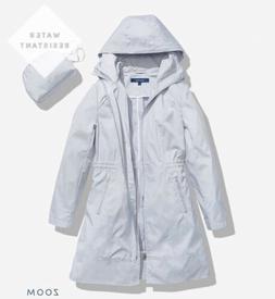 COLE HAAN Women's Jacket Single Breasted Packable Rain Jac