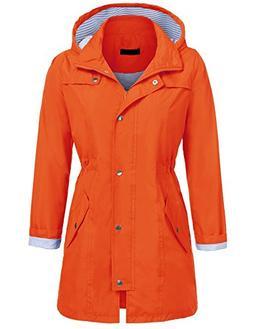 UNibelle Womens Lightweight Hooded Raincoat Active Outdoor W