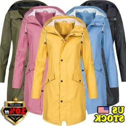 Womens Long Sleeve Hooded Mac Wind Jacket LADIES Outdoor WAT