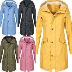 Womens Long Sleeve Hooded Wind Jacket Ladies Outdoor Waterpr
