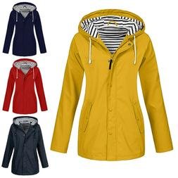 Womens Long Sleeve Jacket Outdoor Plus Size Waterproof Hoode