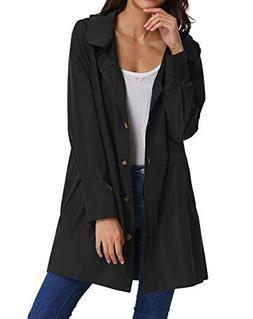 Womens Long Sleeve Lightweight Waterproof Outdoor Hooded Rai