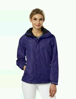 HELLY HANSEN Womens New Aden Rain Jacket Purple Ladies Size