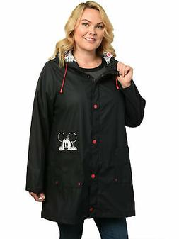 Women's Plus Size Mickey Mouse Rain Coat Lightweight Jacke