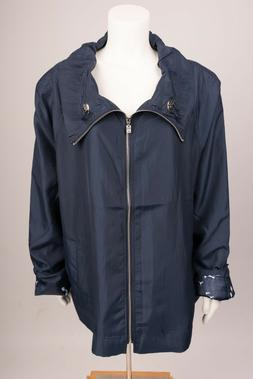 UBU Womens Rain Coat Jacket Lightweight Plus Size 2X Navy Bl