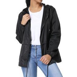 Womens Warm Hooded Long Coat Rain Jacket Ladies Windbreaker