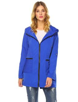 Zeagoo Womens Waterproof Hooded Active Rain Jacket Windbreak