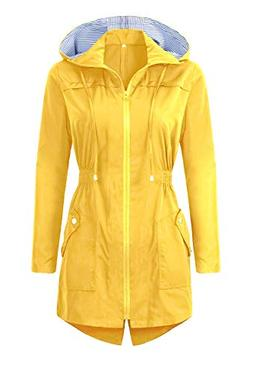 BBX Lephsnt Womens' Waterproof Lightweight Raincoat Hooded O