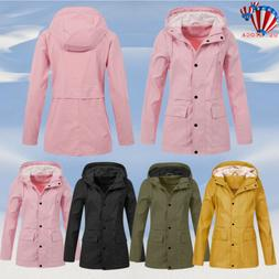 Womens Waterproof Raincoat Ladies Outdoor Wind Rain Forest J