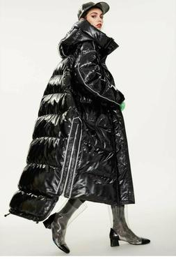 Womens Winter Warm Glossy Hooded Rain Resistant 90% Duck Dow