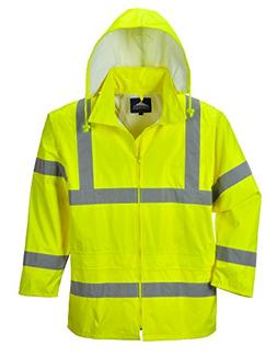 Portwest Waterproof Rain Jacket, Lightweight, Yellow, X-Larg